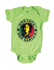 Bob Marley Baby Onesie One Love Lime