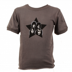 Kiss Baby Rock T-shirt eco Vintage Black – organic cotton