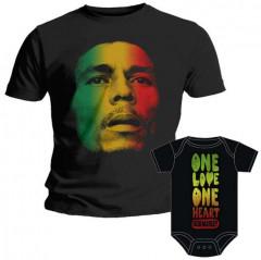 Duo Rockset Bob Marley Father's T-shirt & Bob Marley Onesie Baby