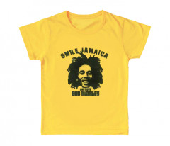 Bob Marley cool children's kids T-shirt Smile Jamaica (Clothing)