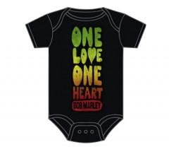 Bob Marley Onesie Baby One Love One Heart