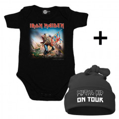 Infant Giftset Iron Maiden Onesie infant/baby & Metal Kid on Tour Hat