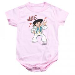 Elvis Presley Baby Onesie Pink Mini Elvis
