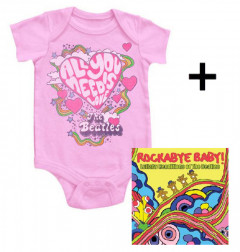 Giftset Beatles Romper All You Need Is Love & Beatles Rockabyebaby CD Lullaby Baby CD