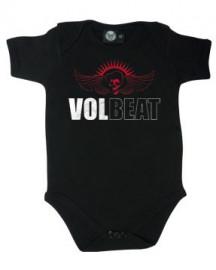 Volbeat rock baby onesie Skull Wing (Clothing)