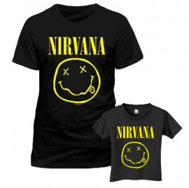 Duo Rockset Nirvana Father's T-shirt & Kids/Toddler T-shirt Smiley