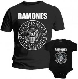 Duo Rockset Ramones Father's T-shirt & Ramones Onesie Baby