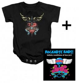 Giftset Bon Jovi Baby Onesie Heart & Bon Jovi CD