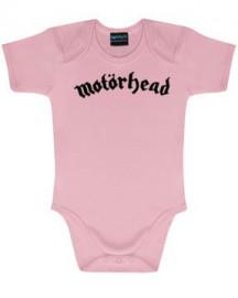 Motörhead Onesie Baby Logo Pink  – metal onesies