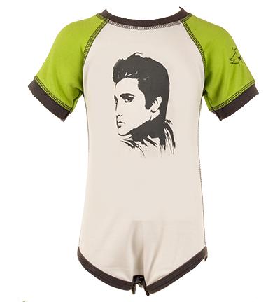 Elvis Baby Onesie Green/White