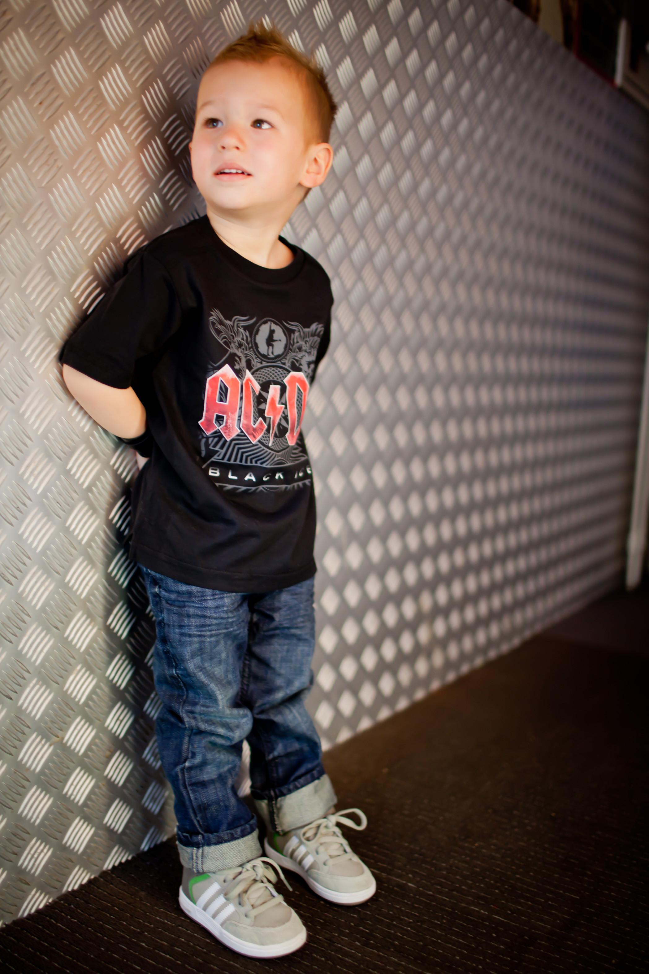 ACDC Kids/Toddler T-shirt - Tee Black Ice