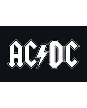 ACDC Logo white close up tshirt