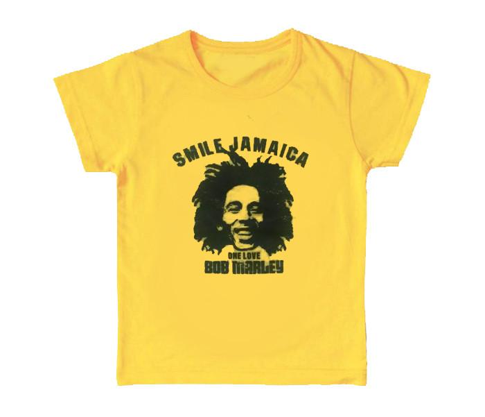 Bob Marley cool children's kids T-shirt Smile Jamaica (Clothing)