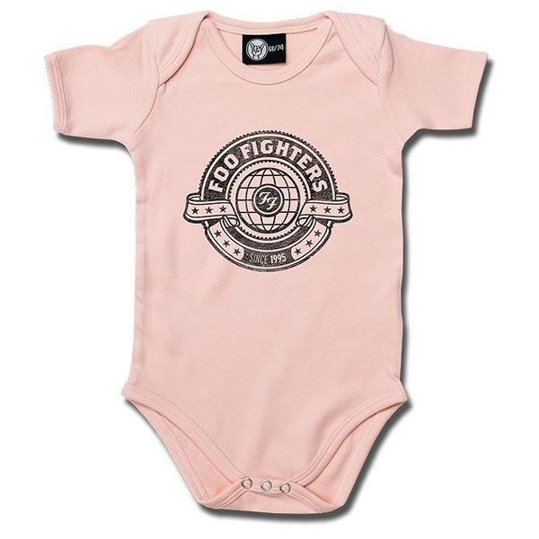 Foo Fighters Onesie Baby Rocker Logo Pink – metal onesies