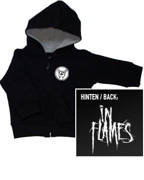 In Flames Kids Hoody Zip Logo (print on demand)