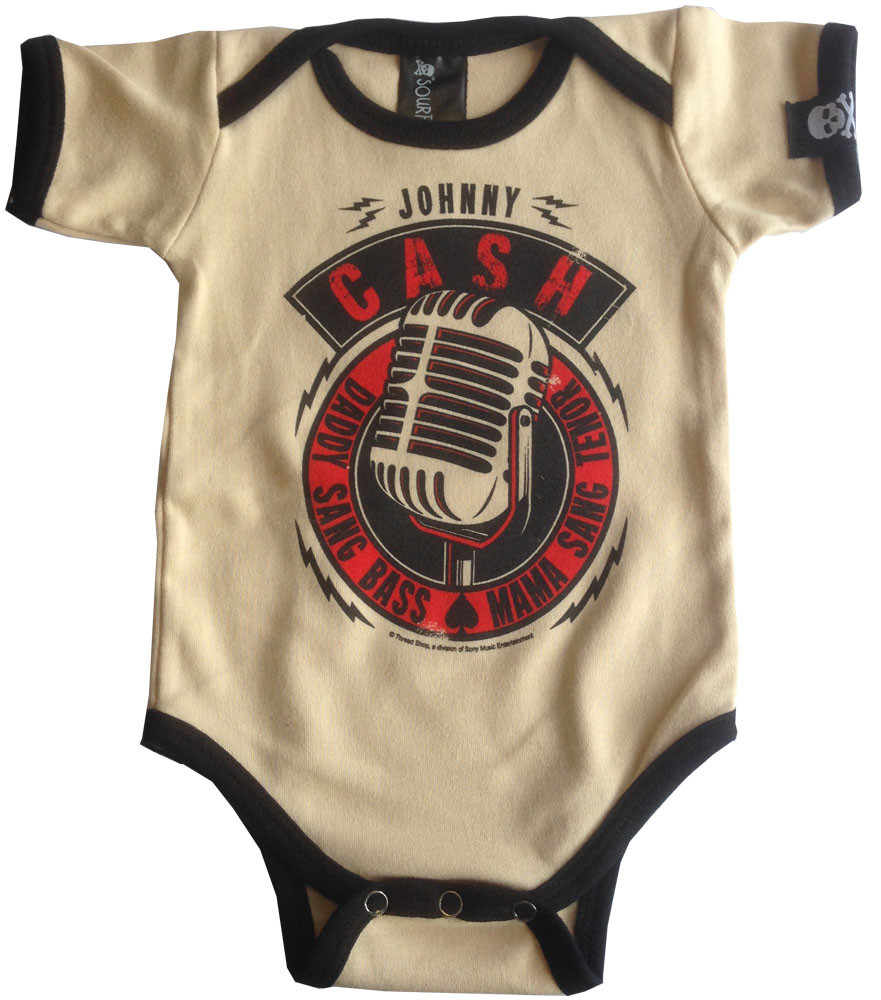 JJohnny Cash Onesie Baby Creeper Daddy Sang Bass