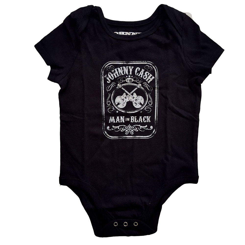 Johnny Cash Onesie Baby Rocker Man in black