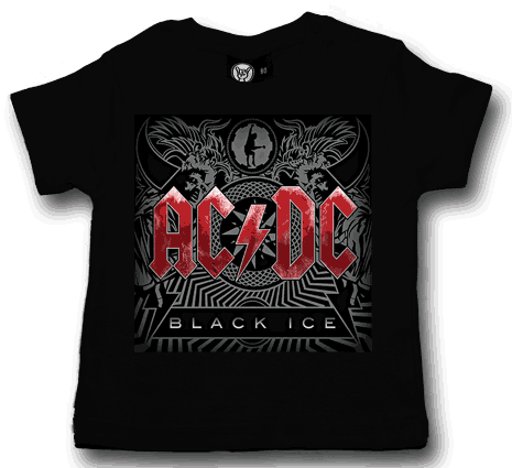 ACDC Baby T-shirt - Tee Black Ice AC/DC t-shirts (Clothing)