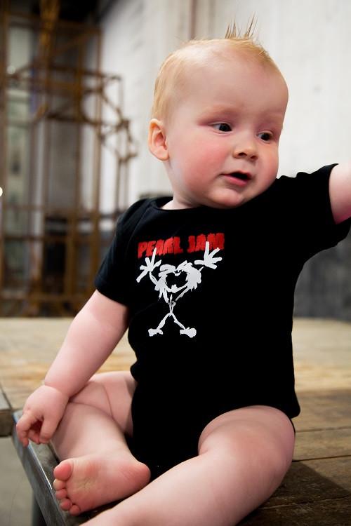 Pearl Jam Baby Onesie Stickman photoshoot