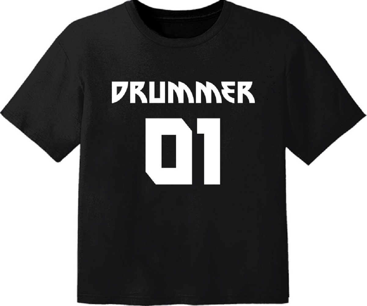 rock baby t-shirt drummer 01