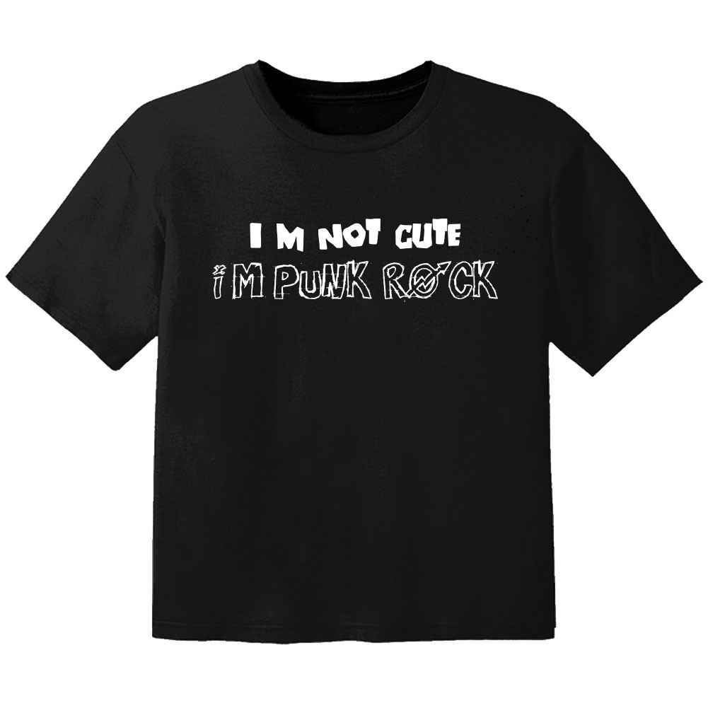 rock kids t-shirt im not cute im punk rock