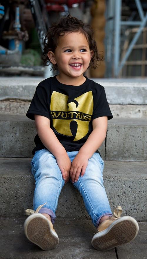 Toddler Wu Tang Shirt photoshoot girl cool
