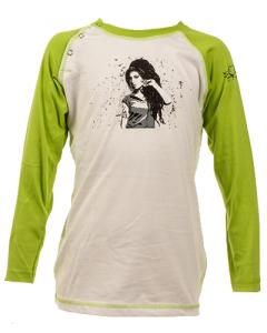 Amy Winehouse Kids Longsleeve Baseball – organic cotton