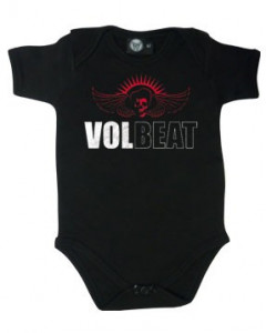 Volbeat Onesie Baby Rocker metal Skullwing