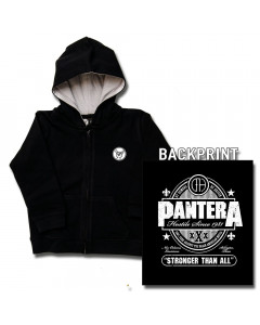 Pantera Kids Hoody Zip Stronger than all (print on demand)