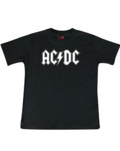 ACDC Kids/Toddler T-shirt - Tee logo white AC/DC