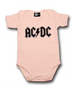 AC/DC Onesie Baby Rocker Logo Pink – metal onesies