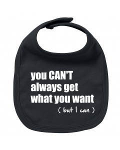 Rock baby bib you can't always get what you want