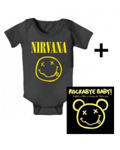 Giftset Nirvana Onesie Baby Smiley & Nirvana CD