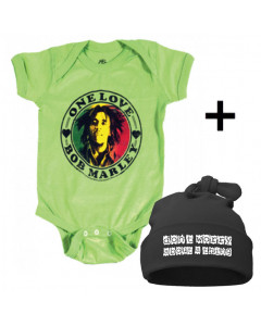 Infant Giftset Bob Marley Creeper infant/baby & Don't Worry Hat