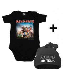Infant Giftset Iron Maiden Onesie infant/baby & Metal Kid on Tour Hat