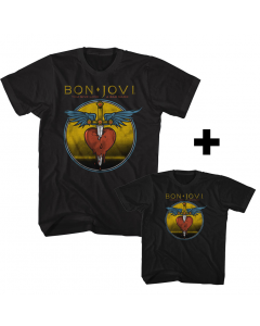 Duo Rockset Bon Jovi kids papa T-Shirt