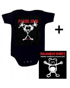 Giftset Pearl Jam Baby Onesie Stickman & Pearl Jam CD