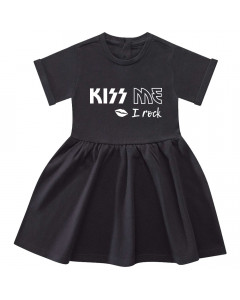Kiss me I rock baby dress