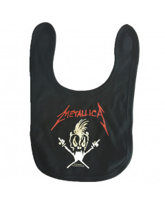 Metallica Baby Rock Bib logo white