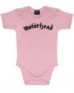 Motörhead Onesie Baby Rocker Logo Pink – metal onesies