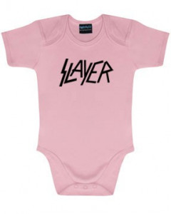 Slayer Onesie Baby Rocker Logo Pink – metal onesies